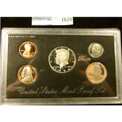 1634 _ 1994 S Silver Proof Set.  The Half Dollar, Quarter, And Dime Are All Silver
