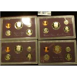 1636 _ 1985, 1986, 1987, And 1990 Proof Sets
