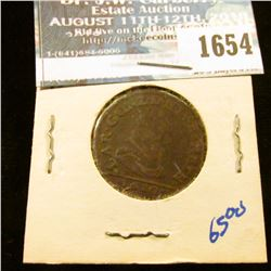 1654 _ 1661 French Copper Coin - French States Principality Of Arches-Charleville In Ardennes