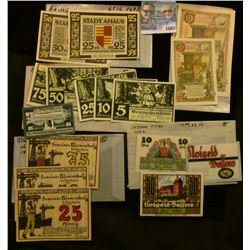 """1665 _ German Notgeld """"Emergeny Money"""" Notes From The 1920's"""