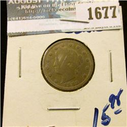 1677 _ 1883 V Nickel With Cents