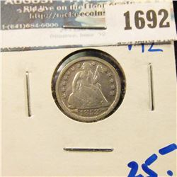 1692 _ 1853 Seated Dime With Arrows