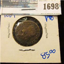 1698 _ Irish Gun Money (Gun Metal) Shilling.. These Coins Wer Minted By England With Metal From Guns