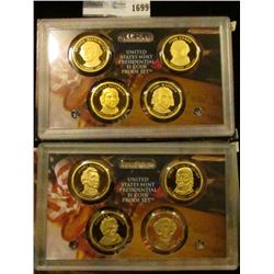 1699 _ 2007 And 2008 Proof Presidential Dollars Sets.  These Sets Start With George Washington And E