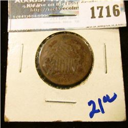 1716 _ 1865 Two Cent Piece