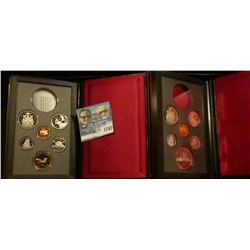 1742 _ 1987 And 1989 Double Dollar Canadian Proof Sets Missing The Silver Dollars