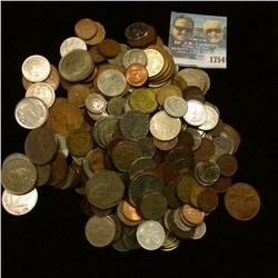1754 _ Bag Of Mixed Foreign Coins