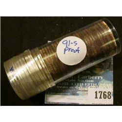 1768 _ Solid Proof Date Roll Of Washington Quarters Dated 1991-S