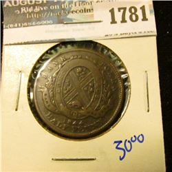 1781 _ Bank Of Montreal Bank Token Dated 1844