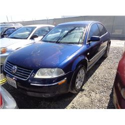 VW PASSAT 2001 T-DONATION