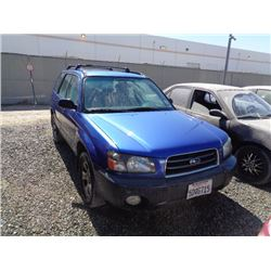 SUBARU FORESTER 2003 T-DONATION