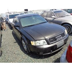 AUDI A4 2002 SALV T/DONATION