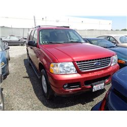 FORD EXPLORER 2005 T-DONATION