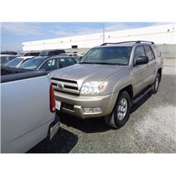 TOYOTA 4RUNNER 2003 APP  DUP/T-DON