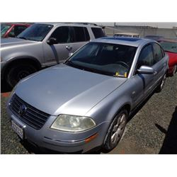 VW PASSAT 2003 T-DONATION