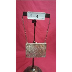 Sterling Change Purse w/ Mirror & Gold, Release w/ Chain
