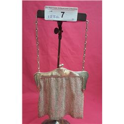 Sterling Evening Mesh Bag w/ Chain