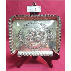 Sterling English Dresser Tray w/ Five Reposse Angels