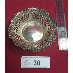 English Sterling Candy Dish
