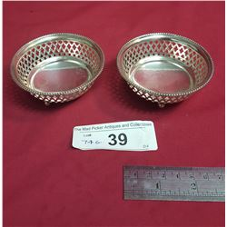 Two Pierced Footed Candy Dishes, English Sterling