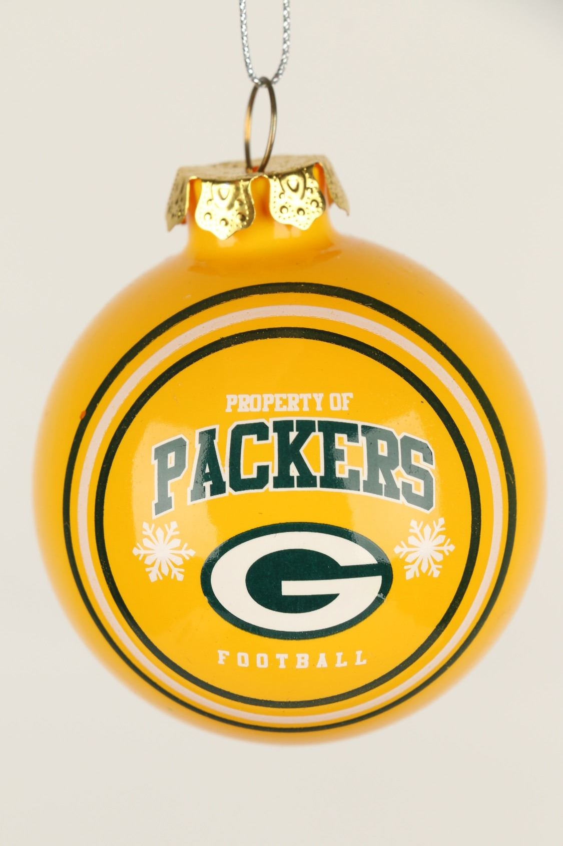 image 3 green bay packers glass christmas ornament - Green Bay Packers Christmas Ornaments
