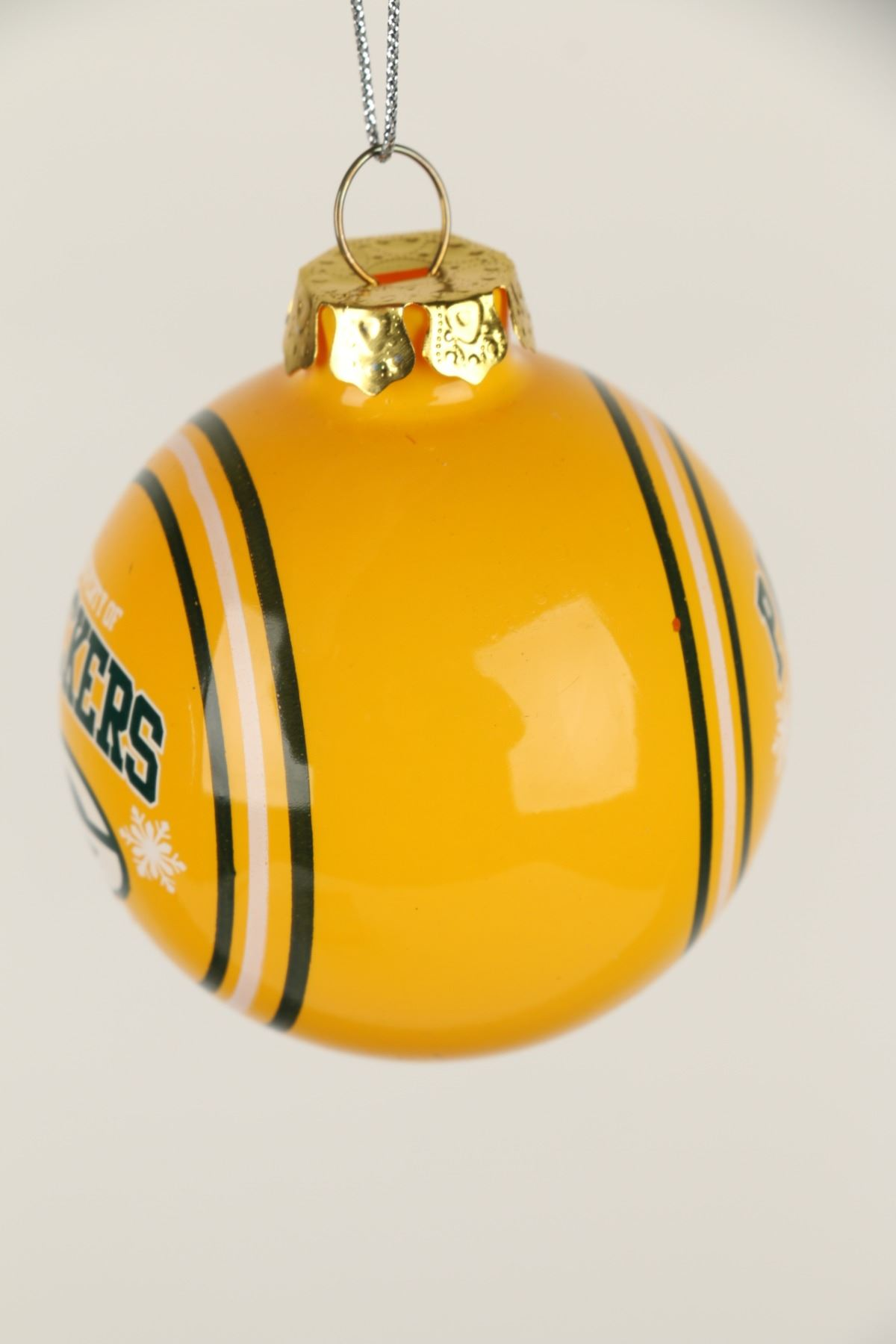 image 5 green bay packers glass christmas ornament - Green Bay Packers Christmas Ornaments