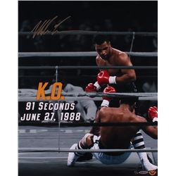 "Mike Tyson Signed LE ""91 Second KO"" 16x20 Photo (UDA COA)"