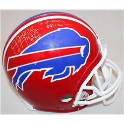 Jim Kelly Signed Bills Full-Size Authentic Pro-Line Helmet Inscribed  Forever #12    HOF 02  Limited