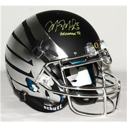 Marcus Mariota Signed LE Oregon Ducks Full-Size Authentic Pro-Line Custom Matte Black  Chrome Wings