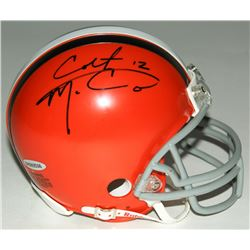 Colt McCoy Signed Browns Mini-Helmet (Upper Deck Hologram)