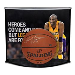 Kobe Bryant Signed NBA Game Ball Series Basketball With Custom Curve Display Case (Panini COA)