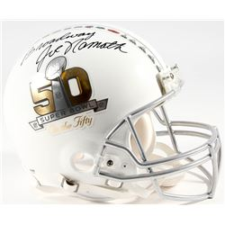 "Joe Namath Signed Super Bowl 50 On The Fifty Full-Size Authentic Pro-Line Helmet Inscribed ""Broadway"
