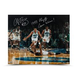 """Alonzo Mourning Signed Hornets 16x20 Photo Inscribed """"1993 Playoff Game Winner!"""" LE 50 (UDA COA)"""
