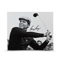 """Gary Player Signed """"Up Close  Personal"""" 20x24 Photo on Canvas LE 25 (UDA COA)"""