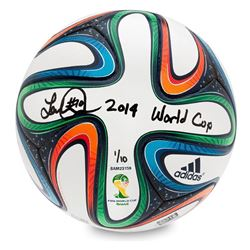 "Landon Donovan Signed Adidas Brazuca 2014 FIFA World Cup Match Ball Inscribed ""2014 World Cup"" LE 10"