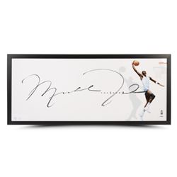 "Michael Jordan Signed LE ""The Show"" UNC Tarheels 20x46 Custom Framed Photo Display (UDA COA)"