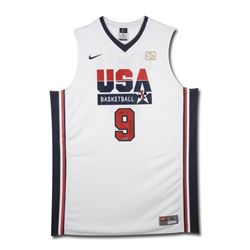 "Michael Jordan Signed LE Team USA Nike Jersey Inscribed ""2009 HOF"" (UDA COA)"