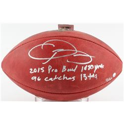 """Odell Beckham Jr. Signed LE """"The Duke"""" NFL Official Game Ball with (4) Rookie Record Inscriptions #1"""