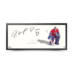 "Patrick Roy Signed Canadiens ""The Show"" 20x46 Custom Framed Photo (UDA COA)"
