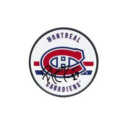 Patrick Roy Signed Canadiens Logo Hockey Puck (UDA COA)