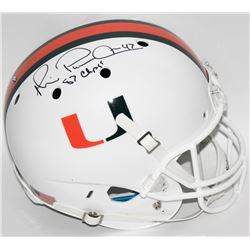 "Michael Irvin Signed University of Miami Full-Size Helmet Inscribed ""87 Champs"" (Irvin Hologram  Rad"