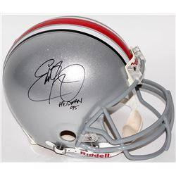 "Eddie George Signed Ohio State Buckeyes Full-Size Authentic Pro-Line Helmet Inscribed ""Heisman 95"" ("