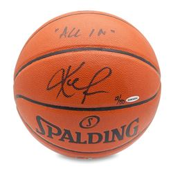 "Kevin Love Signed Basketball Inscribed ""All In"" LE 50 (UDA COA)"