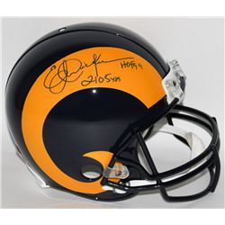 """Eric Dickerson Signed LE Rams Full-Size Authentic Pro-Line Helmet Inscribed """"HOF 99""""  """"2105 YDs"""" (St"""