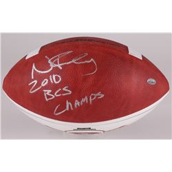 "Nick Fairley Signed NCAA Football Inscribed ""2010 BCS Champs"" (Radtke Hologram)"