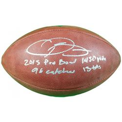 "Odell Beckham Jr. Signed Limited Edition ""The Duke"" NFL Official Game Ball with (4) Rookie Record In"