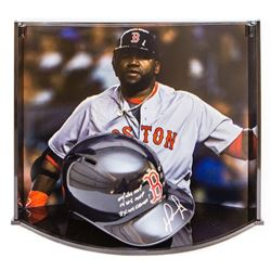 David Ortiz Signed Limited Edition out of 24 Red Sox Full-Size Batting Helmet With Custom Curve Disp