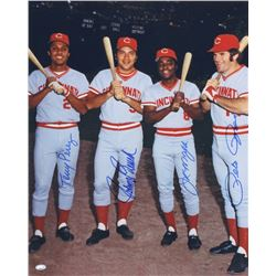 Big Red Machine 16x20 Photo Signed By (4) With Pete Rose, Johnny Bench, Joe Morgan  Tony Perez (FSC