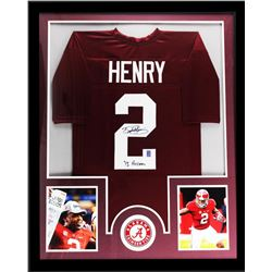 "Derrick Henry Signed Alabama Crimson Tide 34"" x 42"" Custom Framed Jersey Inscribed ""Heisman 15"" (Hen"