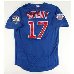 "Kris Bryant Signed Cubs Majestic Authentic 2016 World Series Jersey Inscribed ""2016 WS Champs"" (MLB"